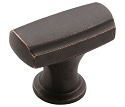 Amerock Highland Ridge 1 3/8 Inch Cabinet Knob - Dark Oiled Bronze
