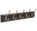 Amerock 27 Inch Length Hook Rack - Mahogany/Antique Silver