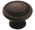 Amerock Inspirations 1 5/16 Inch Cabinet Knob - Antique Rust