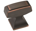 Amerock 1 1/4 Inch Mulholland Cabinet Knob - Oil-Rubbed Bronze