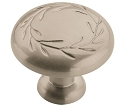 Amerock Nature's Splendor 1 5/16 Inch Cabinet Knob - Satin Nickel