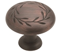 Amerock 1 5/16 Inch Oil Rubbed Bronze Nature's Splendor Cabinet Knob