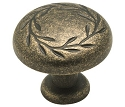 Amerock 1 5/16 Inch Weathered Brass Nature's Splendor Cabinet Knob