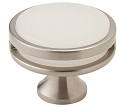 Amerock Oberon 1 3/8 Inch Cabinet Knob - Satin Nickel/Frosted