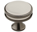 Amerock Oberon 1 3/8 Inch Cabinet Knob - Gunmetal/Frosted