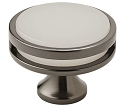 Amerock Oberon 1 3/4 Inch Cabinet Knob - Gunmetal/Frosted
