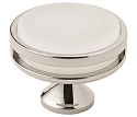 Amerock Oberon 1 3/4 Inch Cabinet Knob - Polished Nickel/Frosted