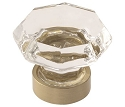 Amerock Traditional Classics 1 5/16 Inch Cabinet Knob - Clear/Golden Champagne