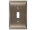 Amerock Candler Single Toggle Wall Plate - Satin Nickel