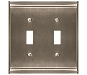 Amerock Candler Double Toggle Wall Plate - Satin Nickel