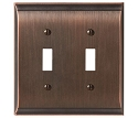 Amerock Candler Double Toggle Wall Plate - Oil-Rubbed Bronze