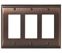 Amerock Candler Triple Rocker Wall Plate - Oil-Rubbed Bronze