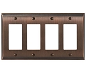 Amerock Candler Quad Rocker Wall Plate - Oil-Rubbed Bronze