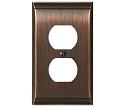 Amerock Candler Plug Wall Plate - Oil-Rubbed Bronze