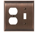 Amerock Candler Toggle & Plug Combo Wall Plate - Oil-Rubbed Bronze