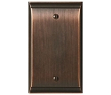 Amerock Candler Blank Wall Plate - Oil-Rubbed Bronze