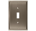 Amerock Mulholland Single Toggle Wall Plate - Satin Nickel