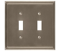 Amerock Mulholland Double Toggle Wall Plate - Satin Nickel