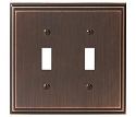 Amerock Mulholland Double Toggle Wall Plate - Oil-Rubbed Bronze