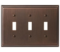 Amerock Mulholland Triple Toggle Wall Plate - Oil-Rubbed Bronze