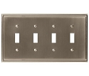 Amerock Mulholland Quad Toggle Wall Plate - Satin Nickel