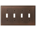 Amerock Mulholland Quad Toggle Wall Plate - Oil-Rubbed Bronze