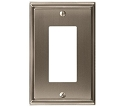 Amerock Mulholland Single Rocker Wall Plate - Satin Nickel