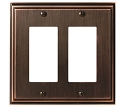 Amerock Mulholland Double Rocker Wall Plate - Oil-Rubbed Bronze