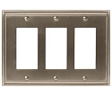 Amerock Mulholland Triple Rocker Wall Plate - Satin Nickel