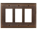 Amerock Mulholland Triple Rocker Wall Plate - Oil-Rubbed Bronze