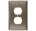 Amerock Mulholland Plug Wall Plate - Satin Nickel