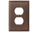 Amerock Mulholland Plug Wall Plate - Oil-Rubbed Bronze