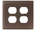 Amerock Mulholland Double Plug Wall Plate - Oil-Rubbed Bronze
