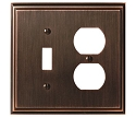 Amerock Mulholland Toggle & Plug Combo Wall Plate - Oil-Rubbed Bronze