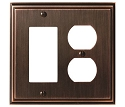 Amerock Mulholland Rocker & Plug Combo Wall Plate - Oil-Rubbed Bronze