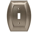 Amerock Sea Grass Single Toggle Wall Plate - Satin Nickel