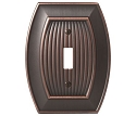 Amerock Sea Grass Single Toggle Wall Plate - Oil-Rubbed Bronze