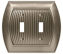 Amerock Sea Grass Double Toggle Wall Plate - Satin Nickel