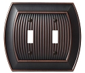 Amerock Sea Grass Double Toggle Wall Plate - Oil-Rubbed Bronze