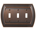 Amerock Sea Grass Triple Toggle Wall Plate - Oil-Rubbed Bronze