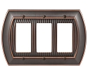 Amerock Sea Grass Triple Rocker Wall Plate - Oil-Rubbed Bronze