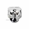 Atlas Homewares Crystal and Pave Collection Vintage Crystal Knob in Polished Chrome