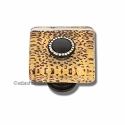 Atlas Homewares Dream Glass Collection: Cheetah Square Knob with Crystal