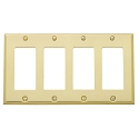 Baldwin 4742 Beveled Edge Quad GFCI Cover Plate - 4.5