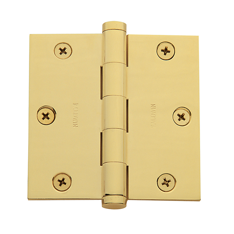 Baldwin Estate Series 3 1/2 Inch Door Hinge With Square Corner. Zoom