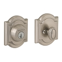 Baldwin Prestige Series Arched Deadbolt Satin Nickel