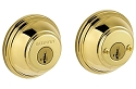 Baldwin Prestige Series Double Cylinder Deadbolt Lifetime Polished Brass