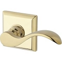 Baldwin Reserve Series Curve Lever with Traditional Square Rosette