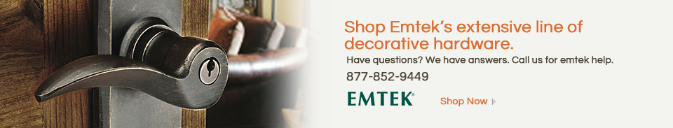Emtek Door Hardware - Shop the entire line of Emtek Knobs and Levers