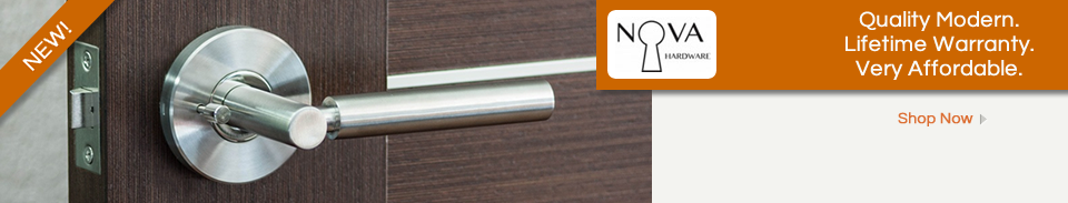 Nova Door Hardware - Affordable modern lever designs.